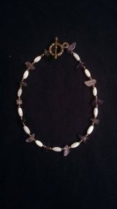 Amethyst and Cats Eye Anklet $10.00