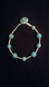 Turquoise and Hemp Bracelet $8.00