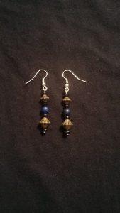 Bronze Lapis Lazuli Earrings $9.00