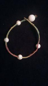 Rasta Hemp & Glass Bead Bracelet $8.50
