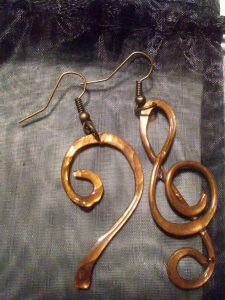 Hammered Musical Earrings $22.00