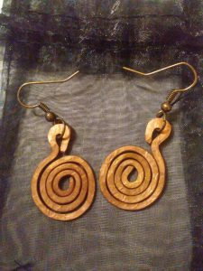 Hammered Copper Spiral Earrings $19.00