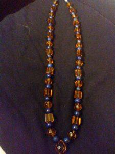 Amber Glass & Lapis Lazuli $23.00